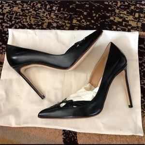 Francesco Russo Pumps black leather brand new
